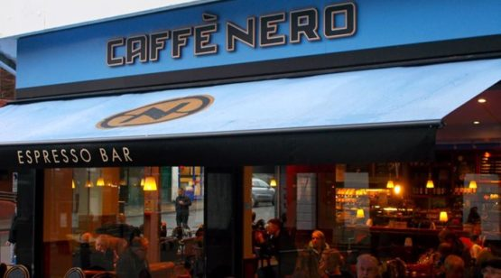 Caffee nero exterior with people sitting outside